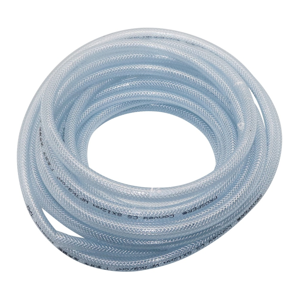 2 M Braided Reinforced Hose PVC 8/12mm Drainage Plumbing Irrigation Pipe Fitting Car Wash Watering Tube Garden Supplies