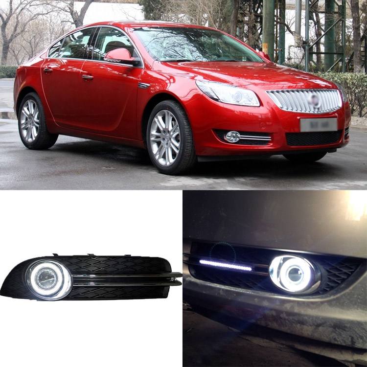 Brand New Superb LED COB Angel Eyes+HID Lamp Projector Lens Foglights For Buick Regal 200- brand new superb led cob angel eyes hid lamp projector lens foglights for vw tiguan 2010 2012