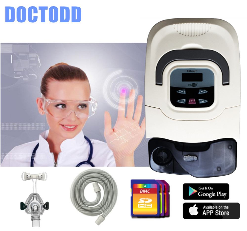 DOCTODD GI CPAP Respirator For Anti Snoring OSA COPD Patient W/ Free Nasal Mask Humidifier Carrying Bag Tubing Filter silence anti snoring