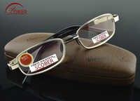 Scober = cristal natural lente multi-revestida aro completo de liga de níquel de luxo masculino feminino óculos de leitura + 0.75 + 1 + 1.25 + 1.5 + 1.75 para + 4