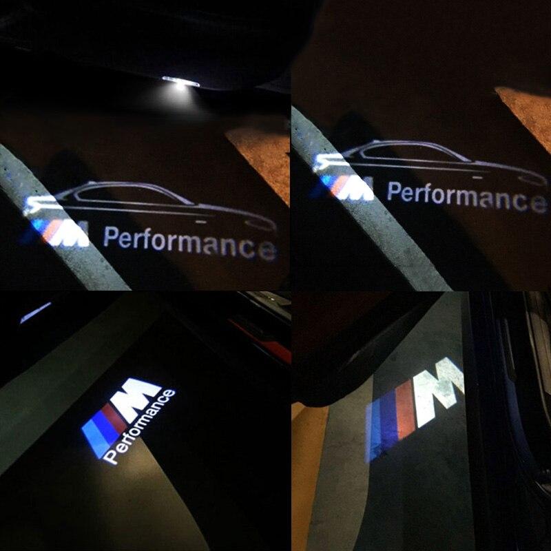 2x led for bmw car door Light M Performance logo projector For BMW E60 E90 F10 F15 F16 F30 M3 M5 F01 F02 GT