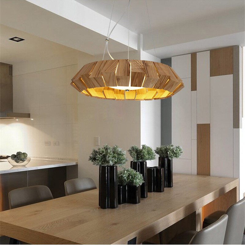 Creative American Country Modern Concise Fashion Wood LED Pendant Light Cafe Bedroom Living Room Decoration Lamp Free Shipping northern europe modern creative concise style pendant light living room bedroom study decoration light free shipping