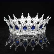 Vintage Baroque Queen King Bridal Tiara Crown For Women Headdress Prom Bride Wedding Tiaras and Crowns Hair Jewelry Accessories(China)