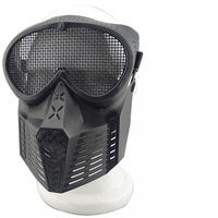Fly Plastic Mask With Metal Mesh Gauze Network Full Face Safe Mask For Outdoor CS Tactical