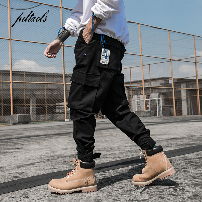 New Arrival Multi-Pockets Fashion Safari Style Men's Jogger Trousers Hip Hop Autumn Casual Street Male Ankle-Length Harem Pants