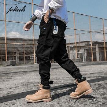 c2b4d1acc8208 Nueva llegada Multi-bolsillos de moda de estilo Safari de los hombres  Jogger pantalones Hip Hop Casual de Otoño de la calle Hombre tobillo-  longitud ...