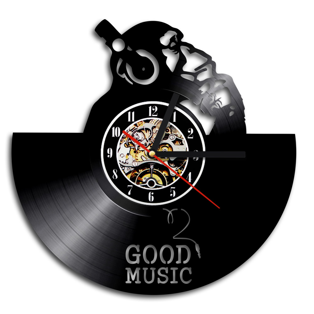 Aliexpress buy 1piece i love good music design vinyl record aliexpress buy 1piece i love good music design vinyl record wall clock home decor orangutan with headphone 3d vinyl clock for music lovers from amipublicfo Images