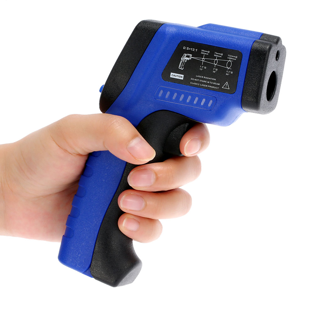 Handheld LCD Laser IR Infrared Thermometer Non-Contact Pyrometer Digital termometro temperature gauge Diagnostic-tool -50C~420C цена 2016