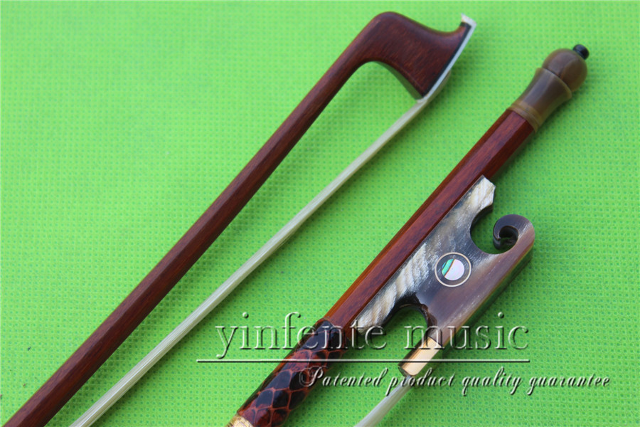 1 pcs Brazilwood Violin Bow 4/4 Straight Pretty inlay Nice F rog    High Quality #43 1 pcs brazilwood violin bow 4 4 straight best model fr og round stick xd 033
