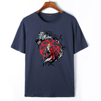 Flevans 2017 de Moda de Verano Para Hombre T Shirt Anime Fullmetal Alchemist Edward Elric Impreso Camiseta Ocasional de Algodón de Manga Corta