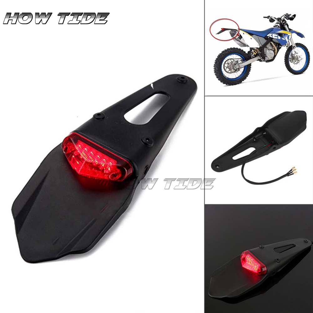 FOR KTM CR EXC WRF 250 400 426 450 Polisport Motorcycle LED Tail Light&Rear Fender Stop Enduro Taillight MX Trail Supermoto