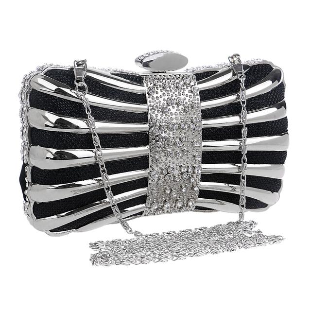 Iron Box Diamonds Women Clutch