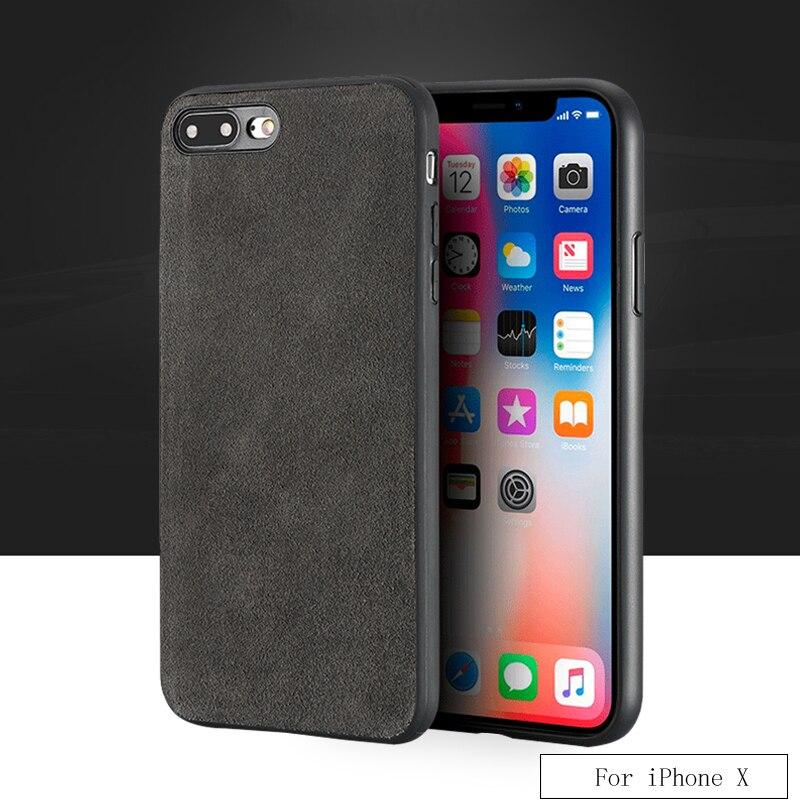 Coque de téléphone en fourrure véritable tout fait main de marque de luxe pour iphone X coque de téléphone tout compris tactile confortable