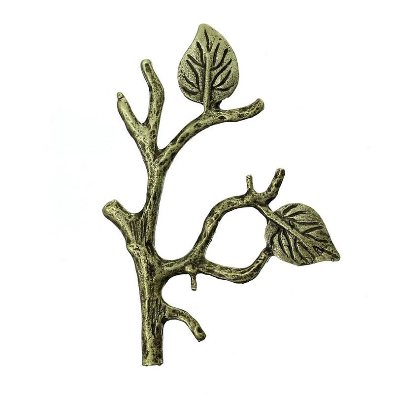 Zinc Metal Alloy Embellishments Findings Branch Antique Bronze 5.1cm(2