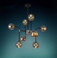 162 Contracted Industrial Retro Modern Iron Pendant Light Coffee Shop Decoration Light Living Room Lamp Pub