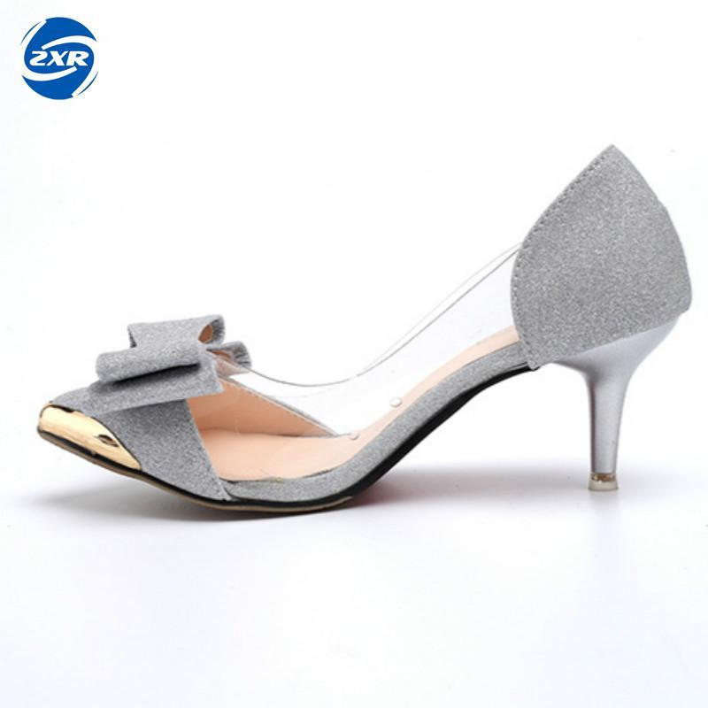Shoes Women Transparent Sandals Pointed Toe Bowknot Designer Women casual Flats Shoes Slip On Ladies Summer Shoes factory direct sale women cloth shoes new designer shoes bowknot casual shoes work flats