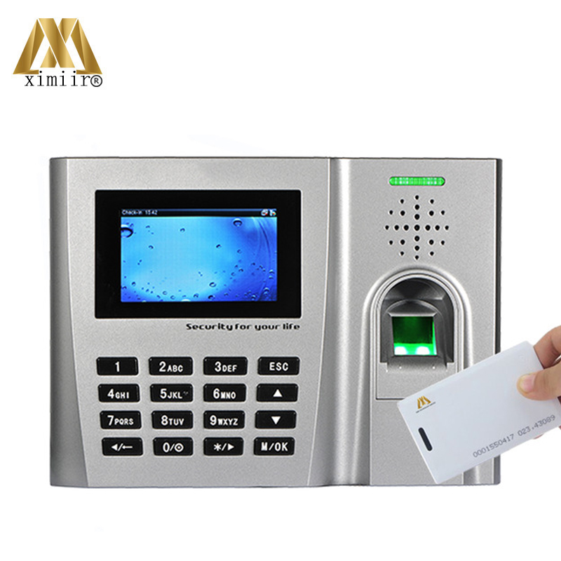 ZK U260 Fingerprint Time Attendance System With RFID Card Reader TCP/IP Webserver Biometric Time Recording Time Attendance Clock