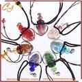 Luminoso arenas esmalte de color de aceite de aceite de aromaterapia collar botella de perfume accesorios colgantes collar luminoso
