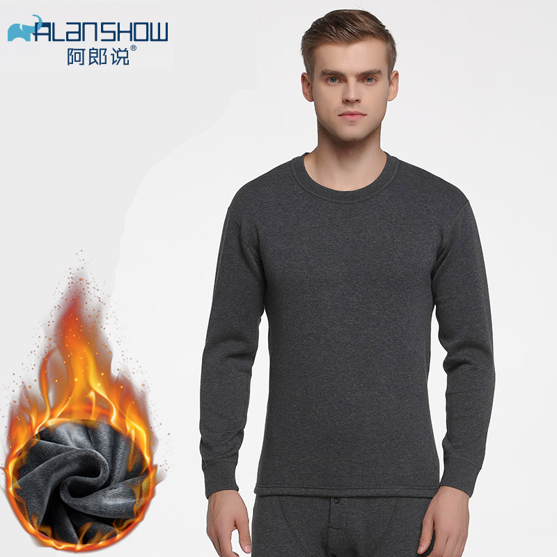 Pants-Sets Shirt Thermal-Underwear-Sets Velvet Long-Johns Warm Winter Thick Plus Autumn