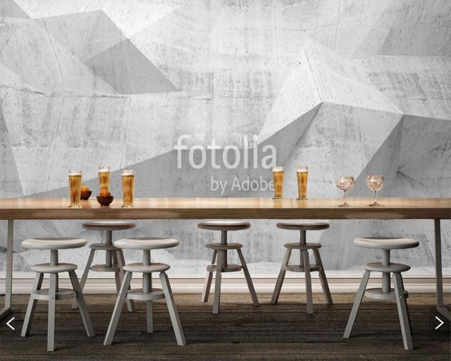 Woonkamer Met Beton : Custom abstract behang abstract beton 3d geometrische