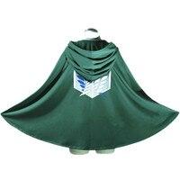 Hot Anime Attack on Titan Costume Scout Regiment Cloak Cosplay Eren Jaeger Cape Clothes Green Cape Men Women Costume