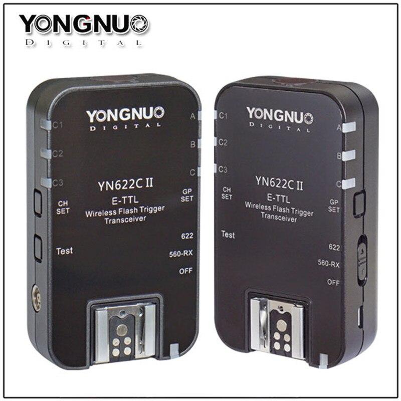 YONGNUO YN-622 II YN622 II i-TTL Wireless Flash Trigger Transceiver for Nikon D800 D7000 D610 D300 For Canon EOS 5D 10D 20D 30D