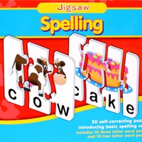 Children Match-It Puzzles Spelling Number Time Early Education Kids Board Game Puzzle Card Toy for Kids Early Learning