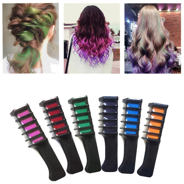 9 Colors Temporary Hair Chalk Dye Powder With Comb Salon Hair ...