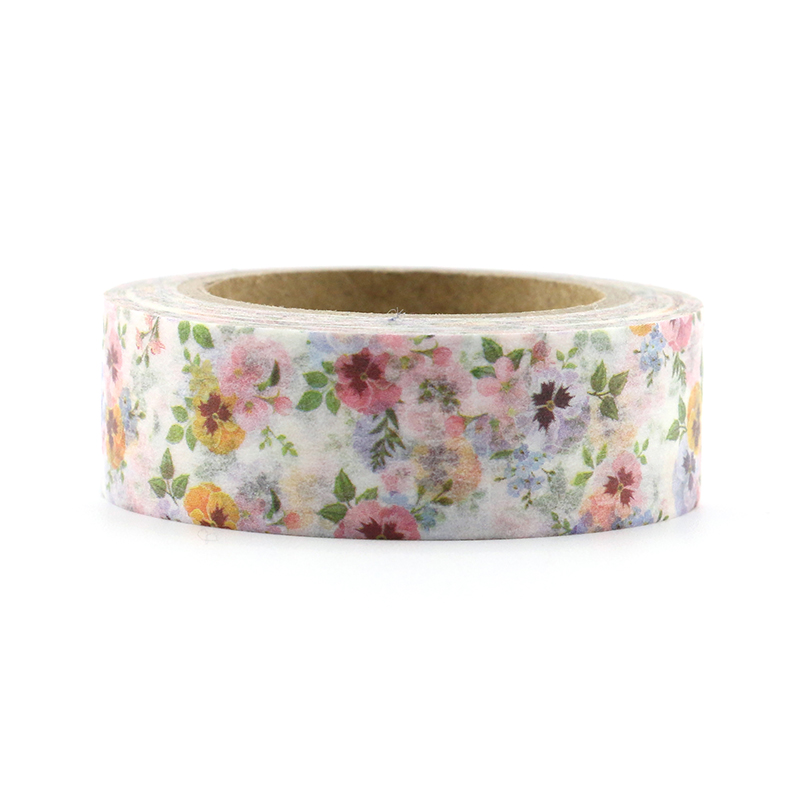 Купить с кэшбэком 1pc Beautiful Elegant floral Decorative Washi Tapes Paper DIY Scrapbooking Adhesive Masking Tapes 10m School Office Supply