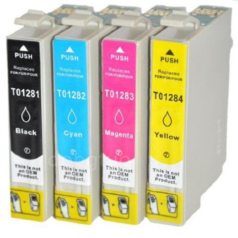T1281 - T1284 Ink Cartridges Full Ink for Epson Stylus SX125 SX130 SX230 SX235W SX420W SX430W SX425W SX435W S22 Printer