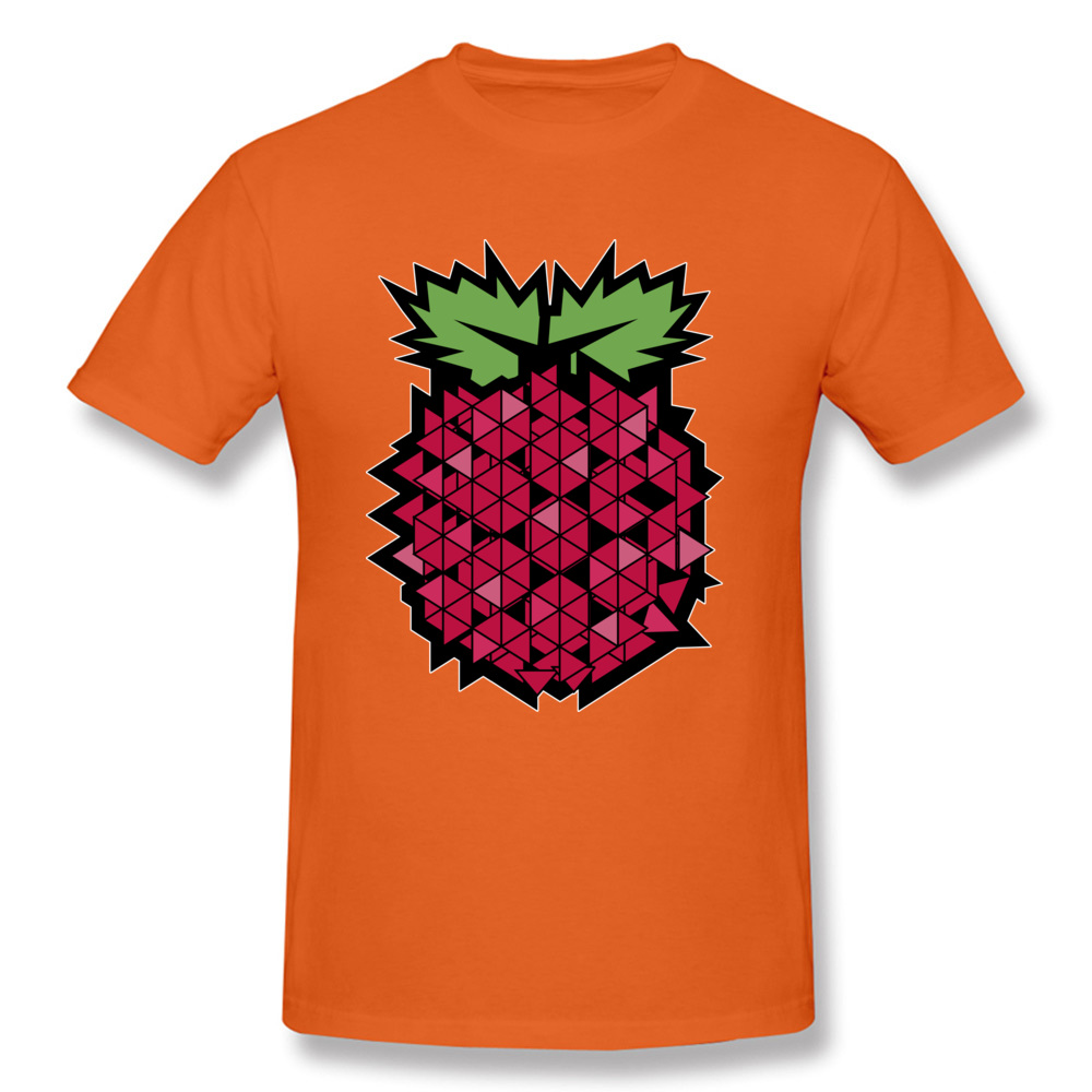 Tops T Shirt Tops & Tees 3D Printed Summer Autumn Short Sleeve 100% Cotton Fabric Round Neck Men's T-shirts Casual New Fashion Geometric raspberry  fruit food art orange