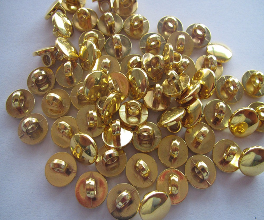Free shipping 25mm plating gold color shank button sewing shank button blouse plastic button fashion button gold color 100pcs
