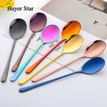 Colourful Stainless Steel Spoon With Home Kitchen Tableware Spoons