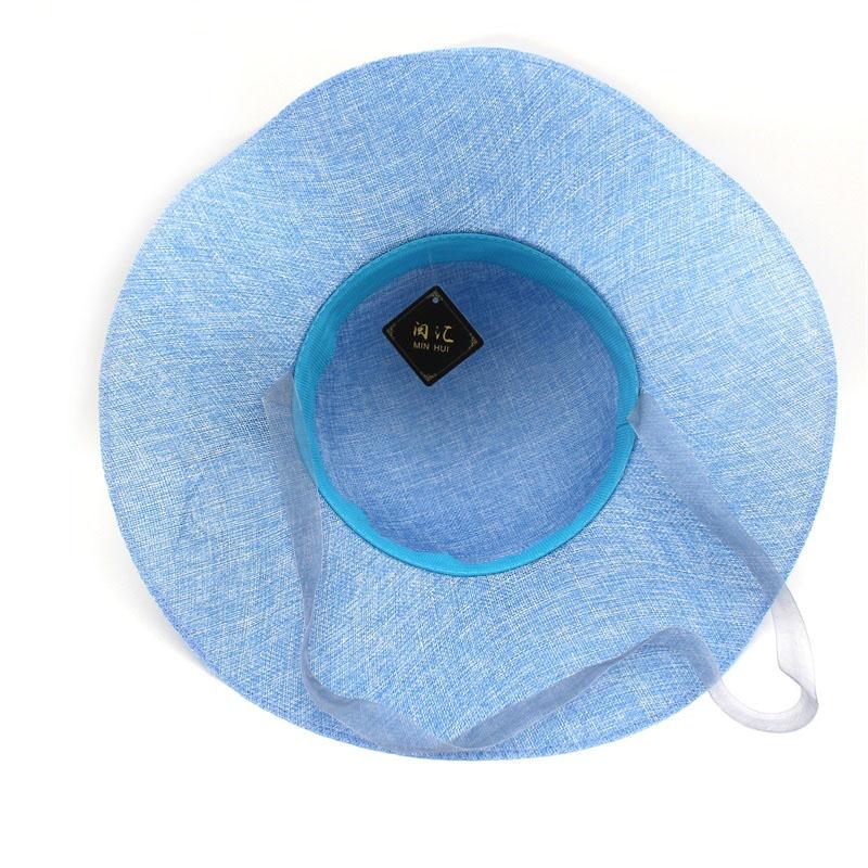 Minhui bowknot sombreros de paja para las mujeres verano moda playa ... 73d1c6dec8d