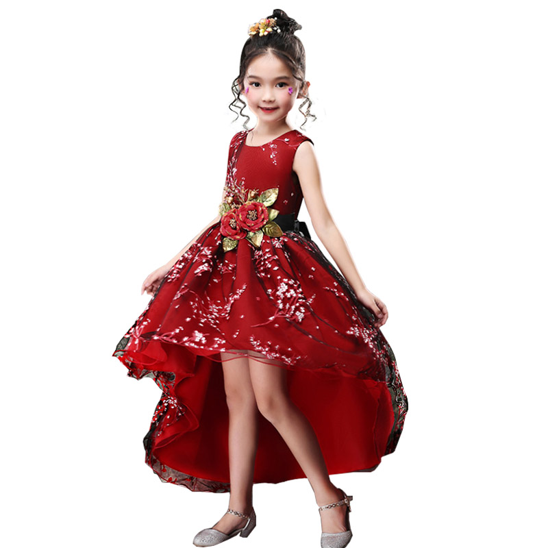 Trailer   flower     girls   party   dress   ball gown for kids princess   dress   baby costume first communion tutu   dresses   ladies costume