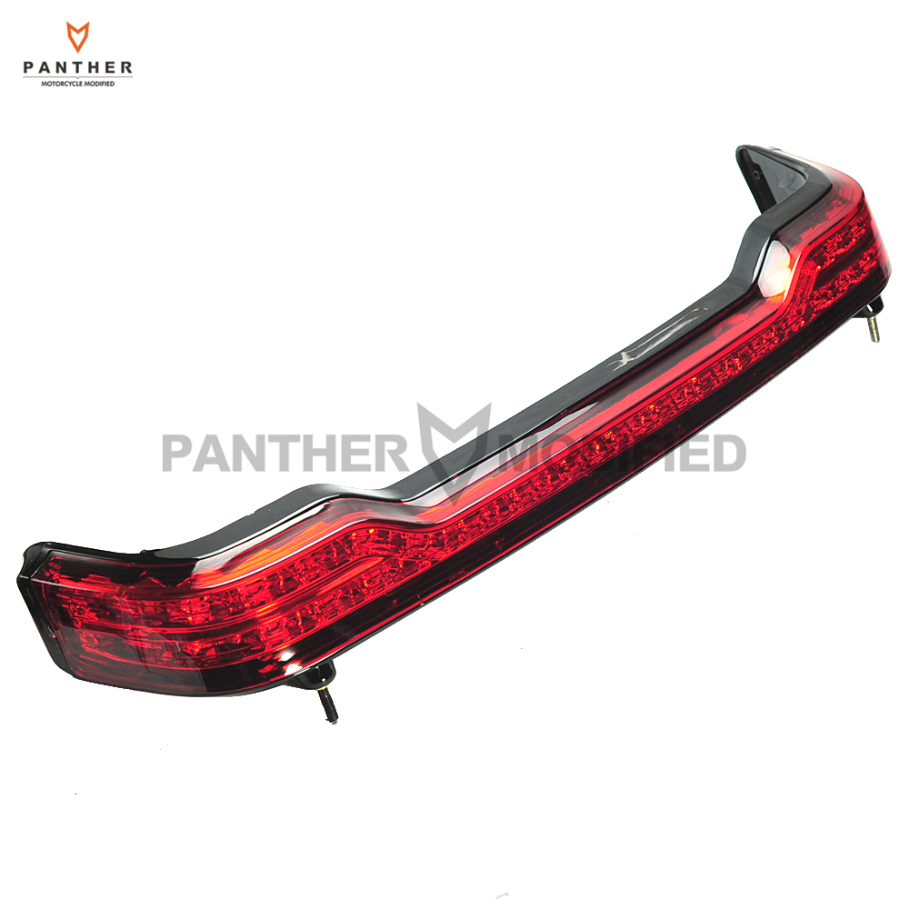 Motorcycle Tour pak LED Brake Taillight Wrap Moto Rear Decoration case for Harley Electra Glide Ultra Classic 2014-2017