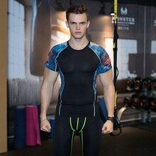 2016 New Men Compression Skin Tight Rash Guard Gym Fitness Running Tights Gym Training Body Building T-Shirt