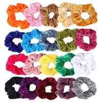 Scrunchies de terciopelo paquete de 20 Scrunchies grandes coloridos para el cabello lazos de terciopelo grandes bandas de Bobble