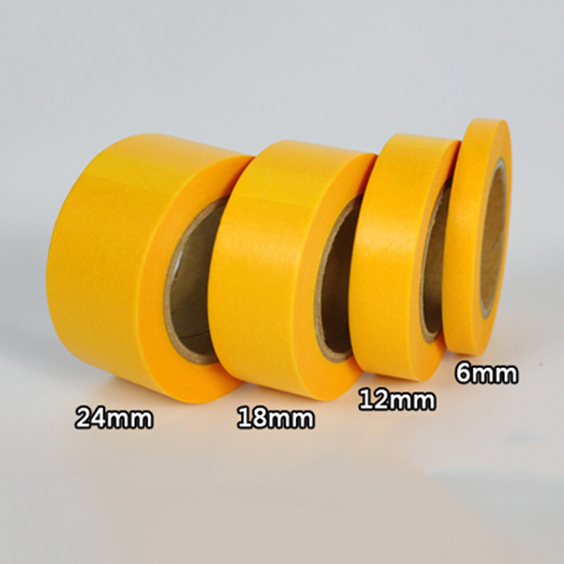 Painting Tape Accessories Adhesive Plaster Paper Yellow Tape 18m Masking Hobby High Quality 2018 New in Model Accessories from Toys Hobbies