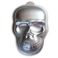 Halloween 3D Crâne Styling Fondant De Décoration En Alliage D'aluminium Gâteau Moules De Cuisson En Métal Casseroles De Cuisson BRICOLAGE Outils