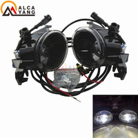 Malcayang Devil Eye 8W Car Styling Front LED Fog Lamps For Nissan March Micra K12 K13 2002 2016 .