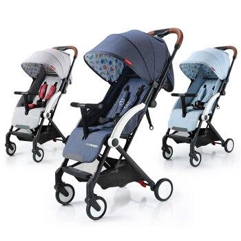 414adff18 Cochecito de bebé de lujo ligero cochecito de bebé caminar Sistema de viaje  plegable cochecitos para recién nacidos carrito de bebé