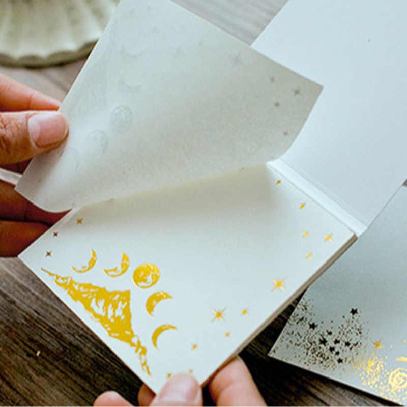 Креативный винтажный позолоченный Лебедь озеро олень блокнот для заметок мини-блокнот бумага для ноутбука kawaii Канцтовары школьная бумага принадлежности