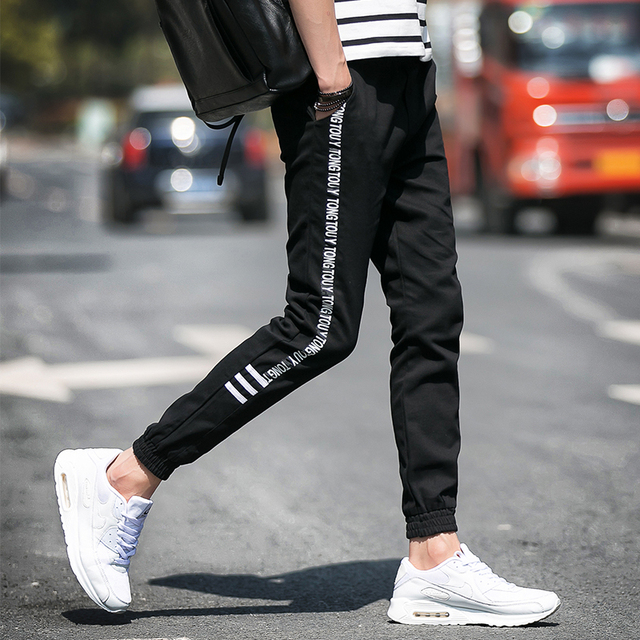 Код плюс размер М-5XL 3 цвета 2017 весной новый мужская повседневная брюки мужчины Тонкий письма удобные брюки