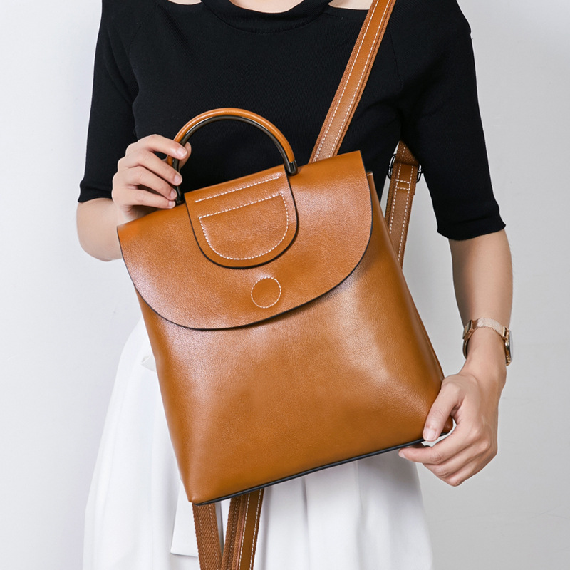 Genuine Leather Backpacks For Girls Travel School Shoulder Leather Bag Leather Backpack Designer Bag Famous Brand Women Bag 2018 vieline genuine leather women backpack famous brand lady leather backpack leather school bag free shipping
