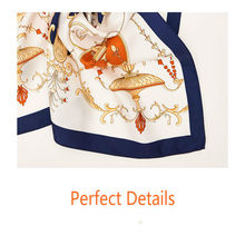 Luxury Brand Shawl Silk Scarf Women Print 100% Twill Silk Scarfs Female 50cm Travel Gift Square Shawls Scarves For Ladies luxury silk square 100
