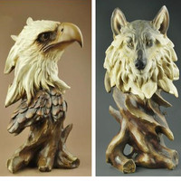 Home Decorations, Birthday, Wedding Gifts, Creative Animal Models, Crafts, Eagle, Wolf, Tiger, Lion, Horse