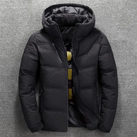 2018 new men's winter short section thick down jacket Korean youth white duck down warm