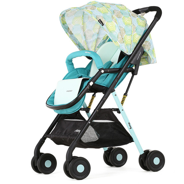 High landscape baby stroller light umbrella folding baby carriage can sit baby lying on the plane