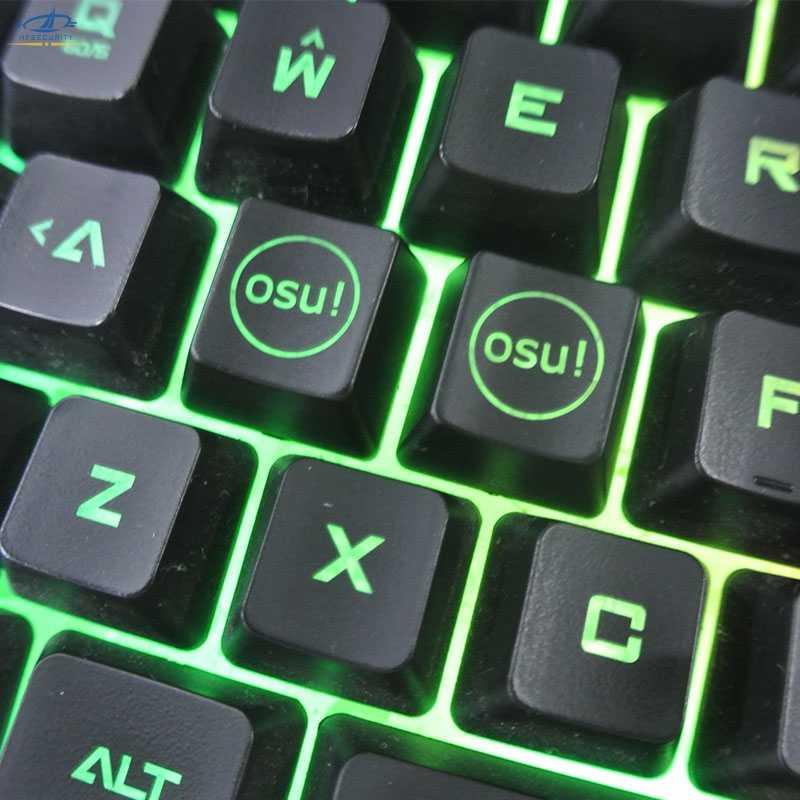 HFSECURITY 2 Pcs Backlight OSU Keycaps for Cherry Keyboard Backlit Mechanical Keyboard Keycap
